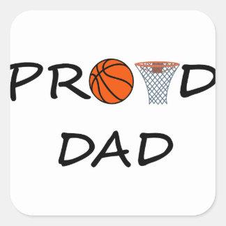 Sticker Carré PAPA de basket-ball