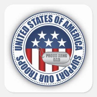 Sticker Carré Papa fier de garde nationale d'armée