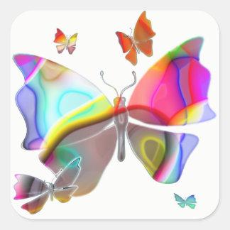 Sticker Carré Papillon de Colorfull