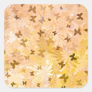 Sticker Carré Papillons et marguerites par Shirley Taylor