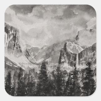 Sticker Carré Parc de Yosemite en hiver