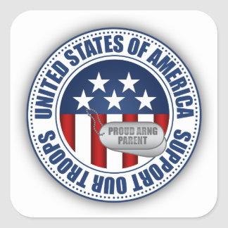 Sticker Carré Parent fier de garde nationale d'armée