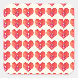 Sticker Carré Pétale CherryHILL NJ NVN215 NavinJOSHI d'amoureux