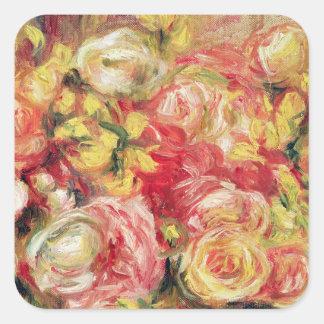 Sticker Carré Pierre roses de Renoir un |