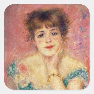 Sticker Carré Pierre un portrait de Renoir | de Jeanne Samary