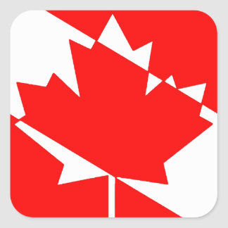 Sticker Carré Piqué blanc rempli Canada