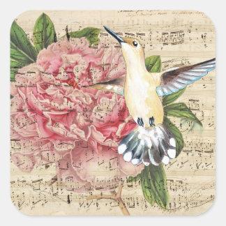 Sticker Carré pivoine de chanson de Hummer