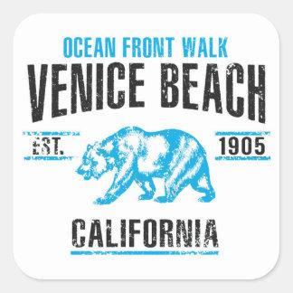 Sticker Carré Plage de Venise