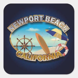 Sticker Carré Plage la Californie (NB), Etats-Unis de Newport