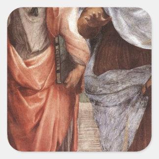 Sticker Carré Platon et Aristote