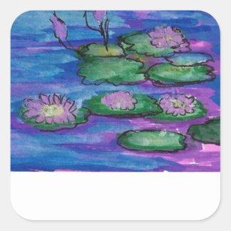 Sticker Carré Plats impressionnistes de /Kindle de livre de