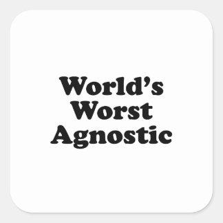 Sticker Carré Plus mauvais agnostique du monde