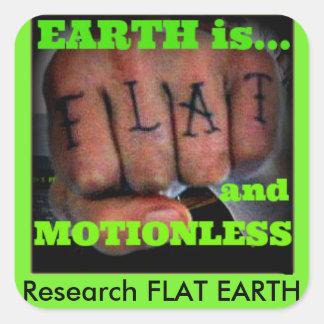 Sticker Carré poing plat de la terre