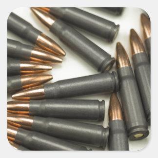 Sticker Carré point creux des munitions 7.62x39mm de munitions