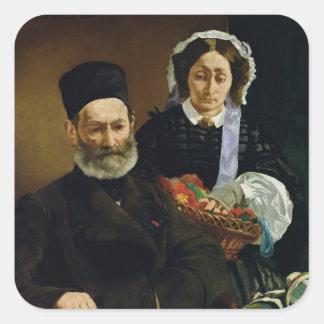 Sticker Carré Portrait de Manet | de M et de Mme. Auguste Manet