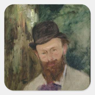 Sticker Carré Portrait de Manet | d'Edouard Manet c.1880