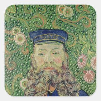 Sticker Carré Portrait de Vincent van Gogh | du facteur