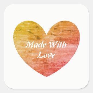 Sticker Carré Pour l'amour de la cuisson - faite avec des