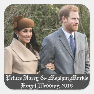 Sticker Carré Prince Harry et mariage royal 2018 de Meghan