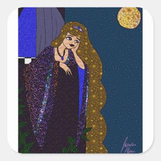 Sticker Carré Princesse de tour