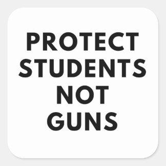 Sticker Carré Protégez les étudiants, pas armes à feu (les