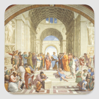 Sticker Carré Raphael - L'école d'Athènes 1511