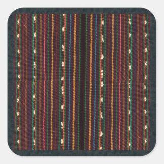 Sticker Carré Rayures de tissage de conception d'Inca péruvien