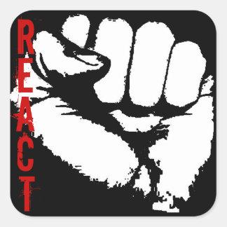Sticker Carré React