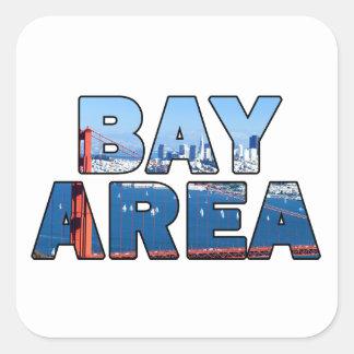 Sticker Carré Région de Baie de San Franciso