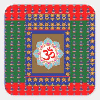 Sticker Carré Religion d'hindouisme d'OmMantra ShivaLinga