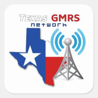 """Sticker Carré Réseau du Texas GMRS - 3"""" décalques"""