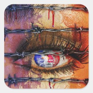 Sticker Carré Résistance Femmes Libres - FREE WOMEN
