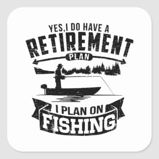 Sticker Carré Retraite de pêche