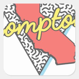 Sticker Carré Rétro souvenir de Compton la Californie