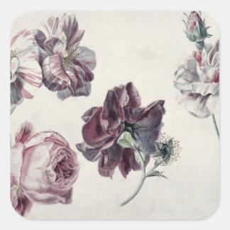 Sticker Carré Roses d'Alma-Tadema |