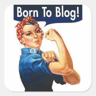 Sticker Carré Rosie le rivoir soutenu au blog
