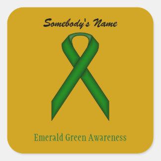 Sticker Carré Ruban de norme de vert vert