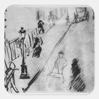 Sticker Carré Rue Mosnier, c.1878 de Manet |