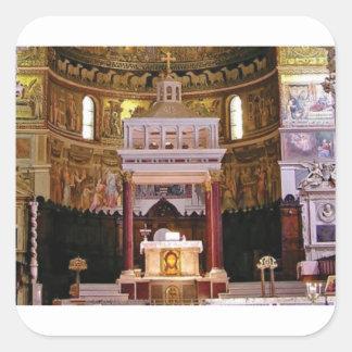 Sticker Carré saint changez dans l'église