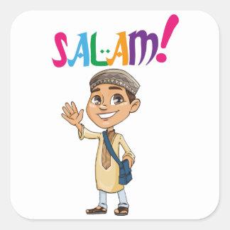 Sticker Carré SALAM pour garçon