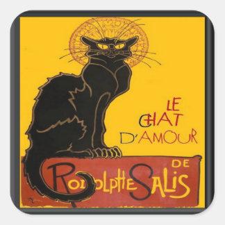 Sticker Carré Salutation d'amour de Le Chat D'Amour