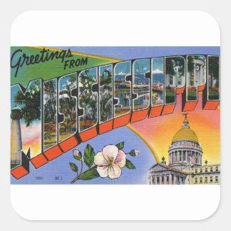 Sticker Carré Salutations du Mississippi