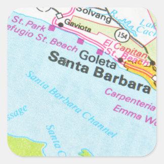 Sticker Carré Santa Barbara, la Californie