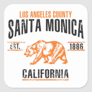 Sticker Carré Santa Monica
