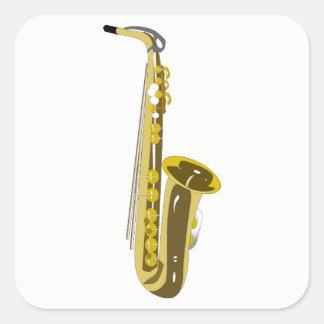 Sticker Carré Saxophone