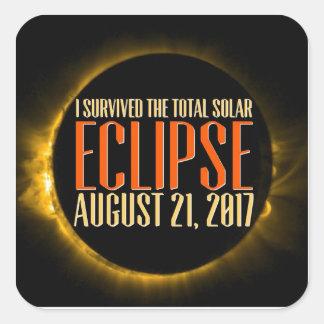 Sticker Carré Serez-vous témoin de l'éclipse dans elle est-vous