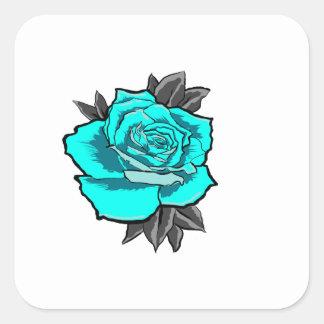 Sticker Carré s'est levé l'éclair de tatouage