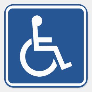 Sticker Carré Signe accessible handicapé de fauteuil roulant