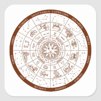 Sticker Carré Signes de zodiaque
