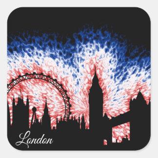 Sticker Carré Silhouette de Londres Angleterre